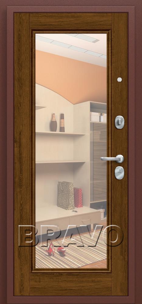 металлическая дверь с зеркалом изнутри