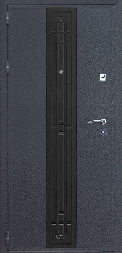 металлическая дверь черный крокодил вставка мдф венге
